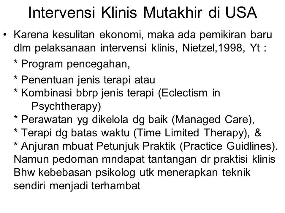 Intervensi Klinis Mutakhir di USA