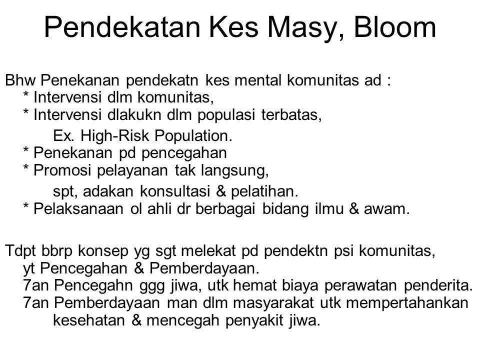 Pendekatan Kes Masy, Bloom