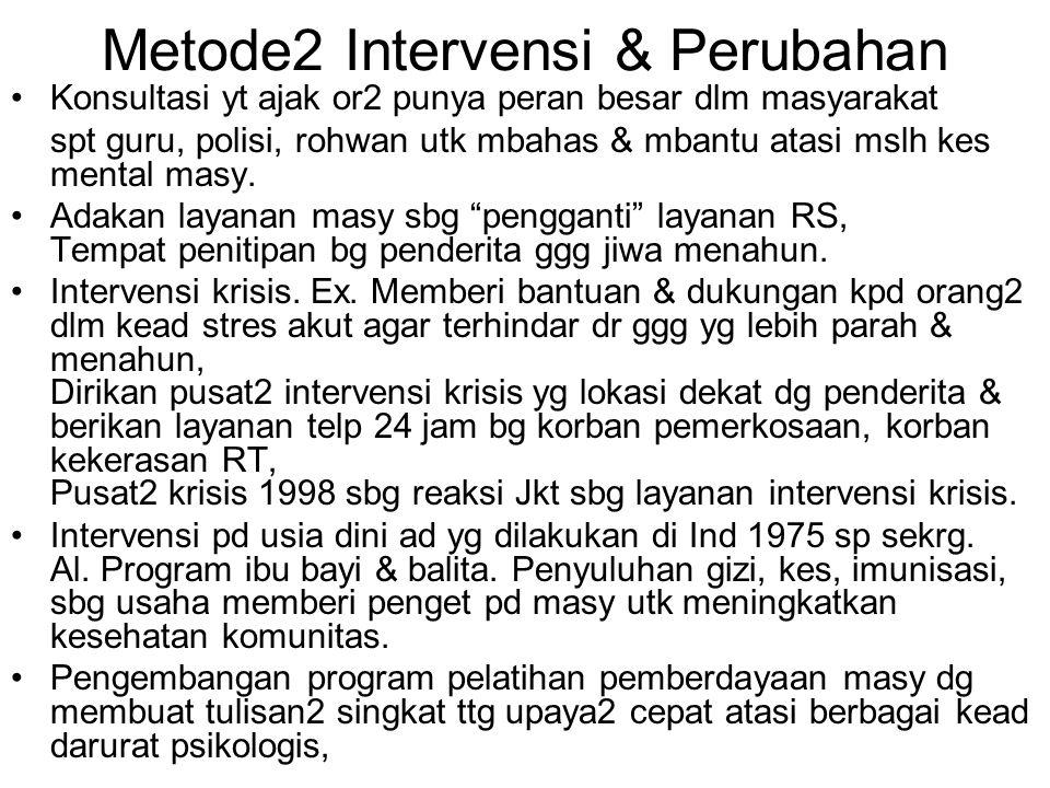 Metode2 Intervensi & Perubahan