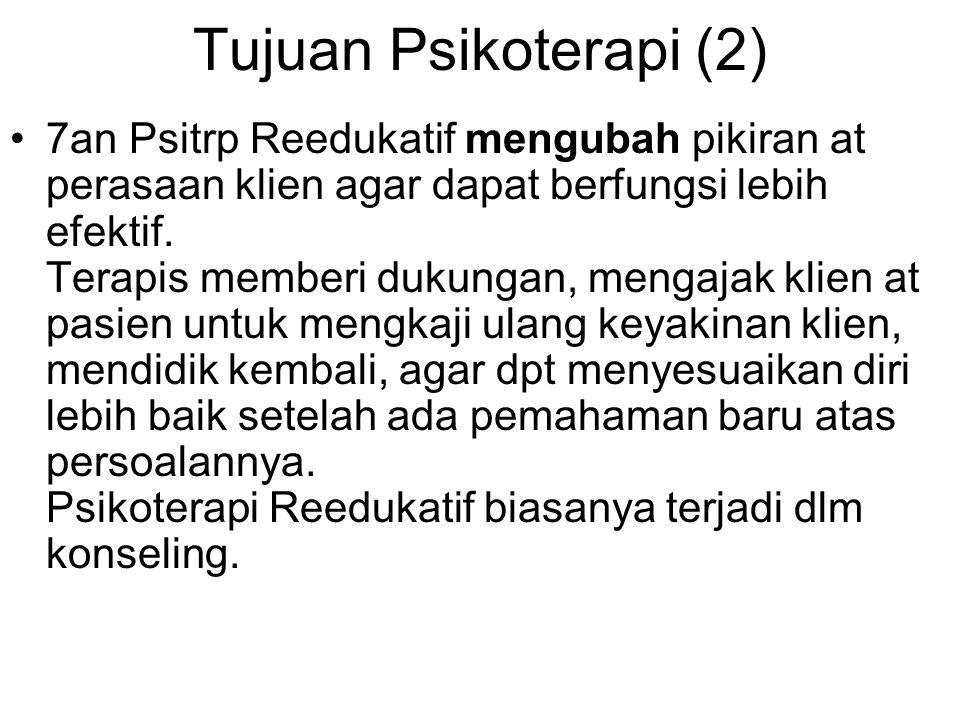 Tujuan Psikoterapi (2)