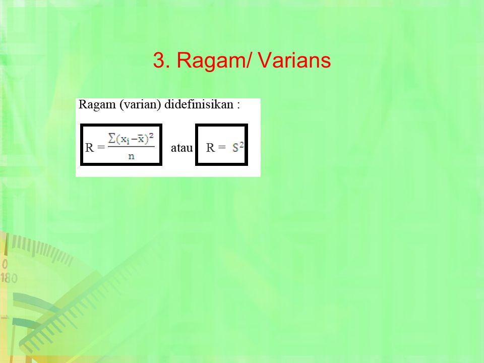 3. Ragam/ Varians