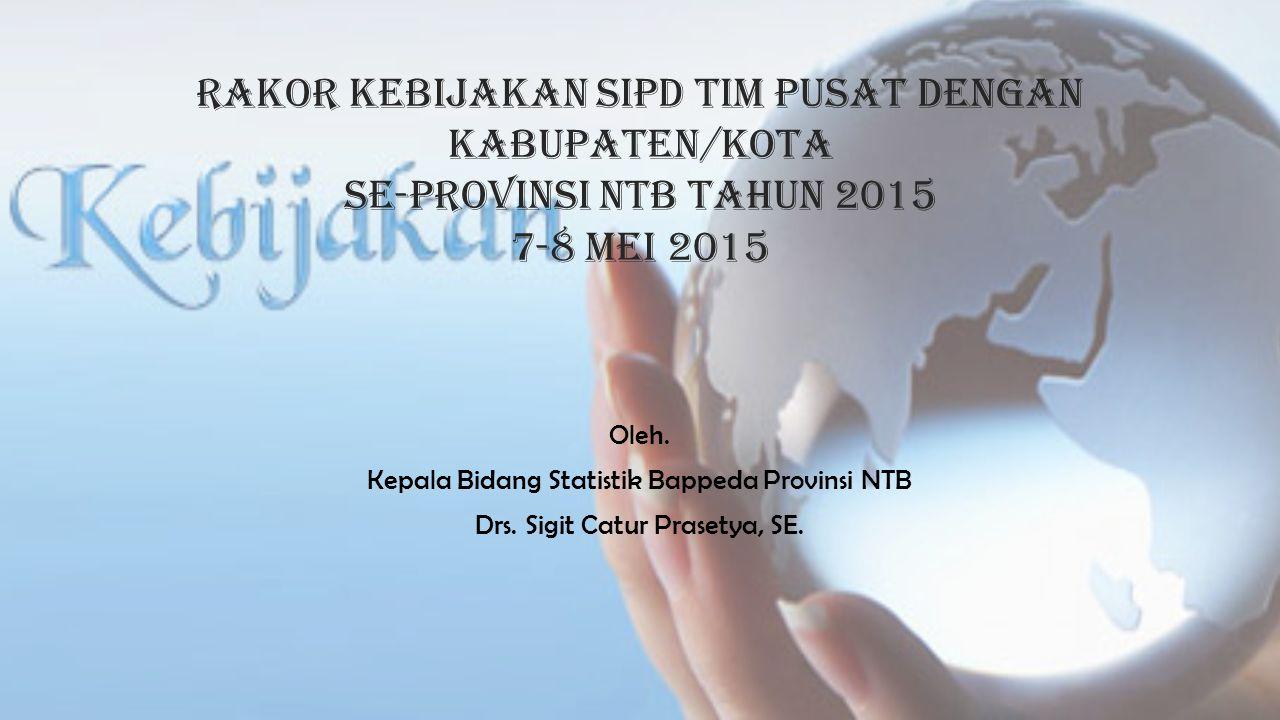 Rakor kebijakan sipd tim pusat dengan kabupaten/kota se-PROVINSI NTB TAHUN 2015 7-8 Mei 2015