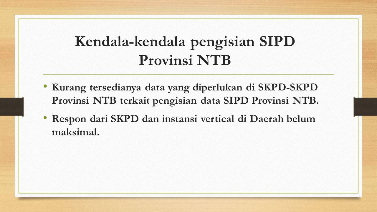 Kendala-kendala pengisian SIPD Provinsi NTB