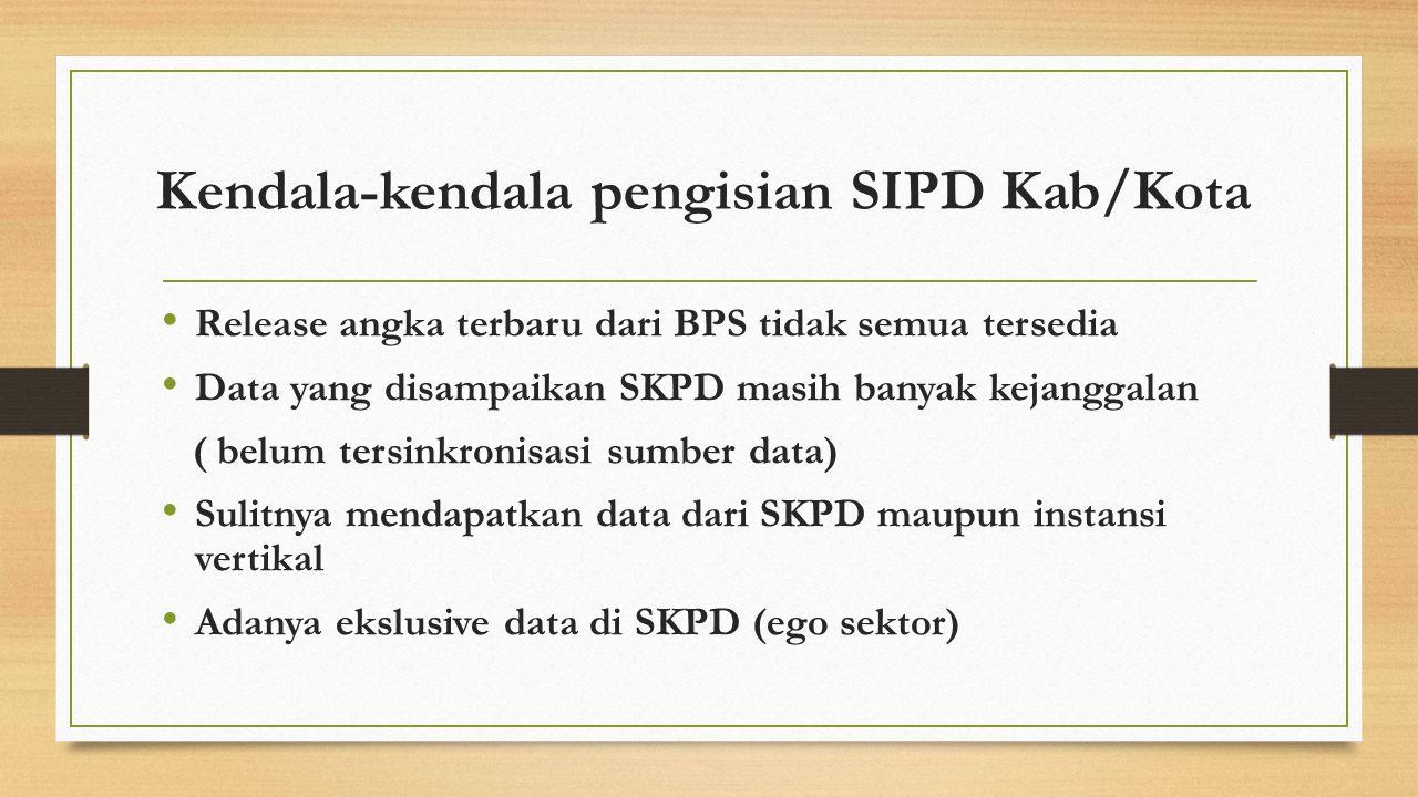 Kendala-kendala pengisian SIPD Kab/Kota