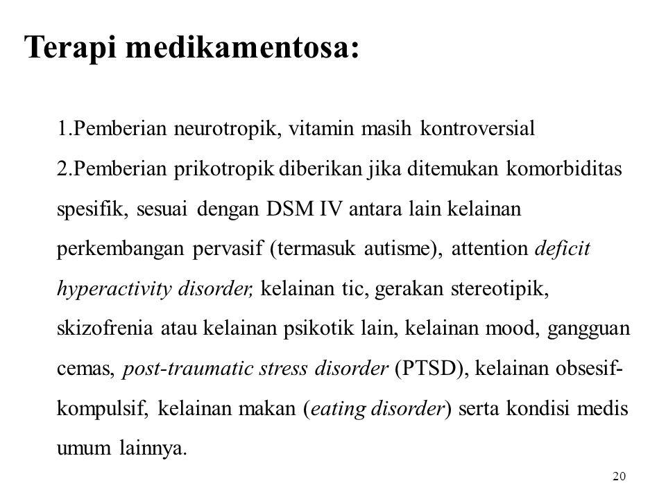 Terapi medikamentosa: