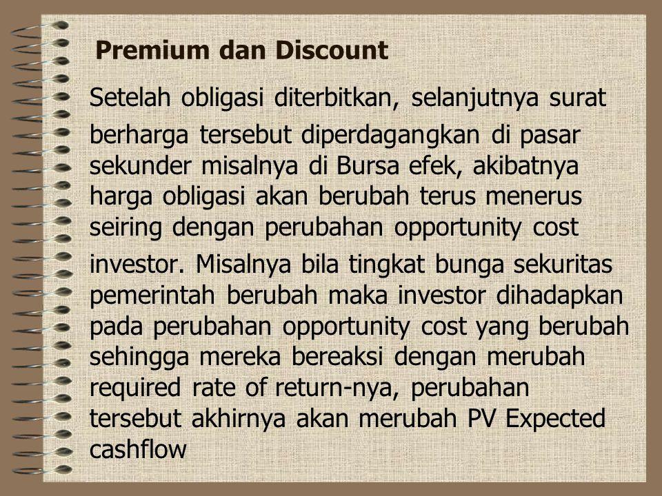 Premium dan Discount Setelah obligasi diterbitkan, selanjutnya surat.