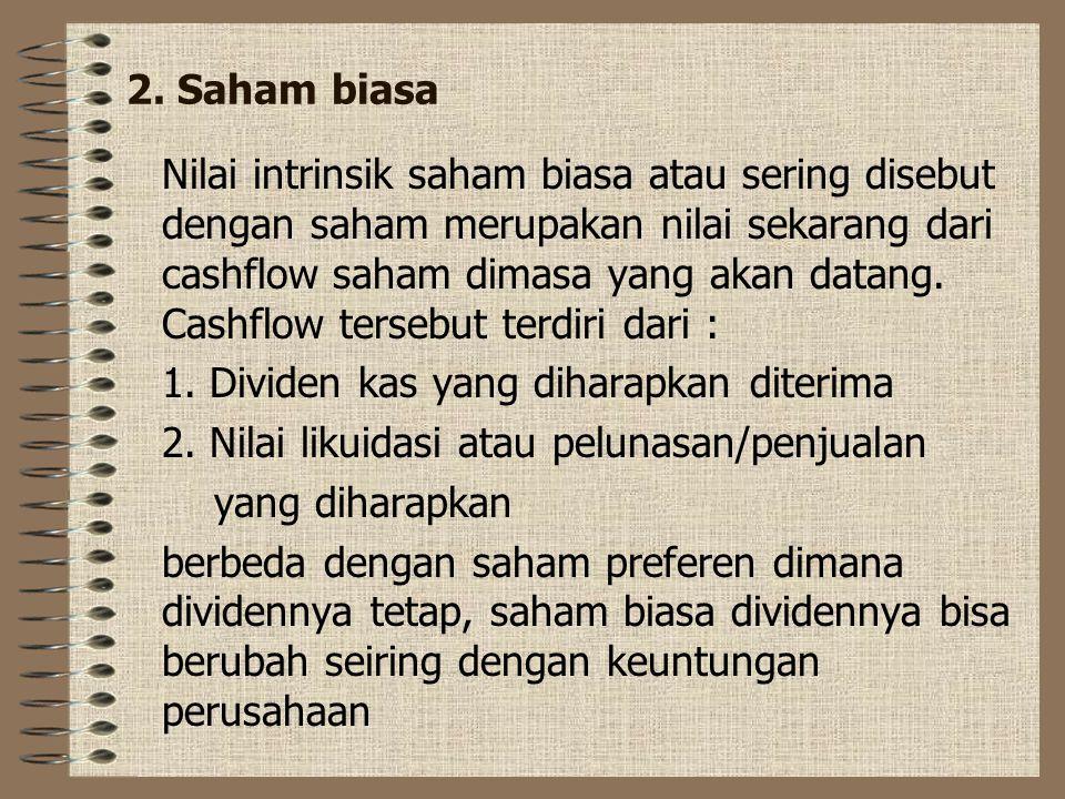 2. Saham biasa