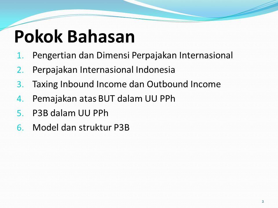 Pokok Bahasan Pengertian dan Dimensi Perpajakan Internasional