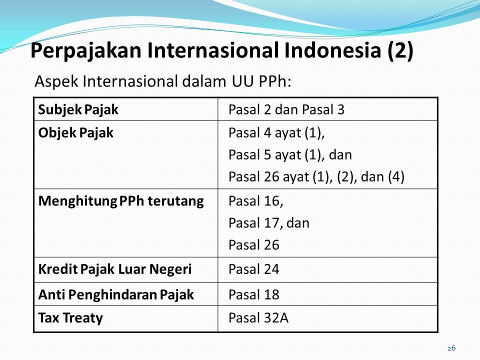 Perpajakan Internasional Indonesia (2)