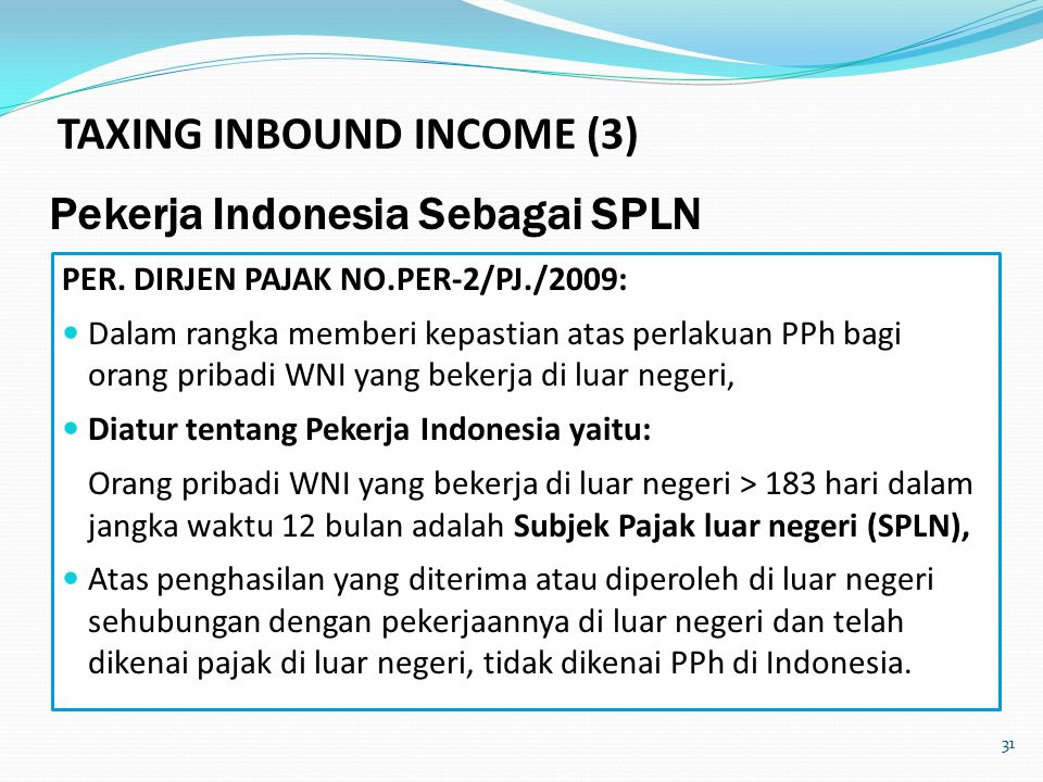 Pekerja Indonesia Sebagai SPLN