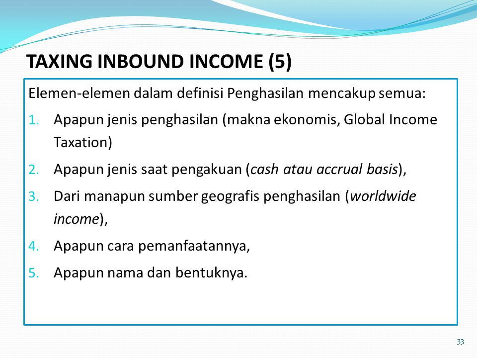 TAXING INBOUND INCOME (5)