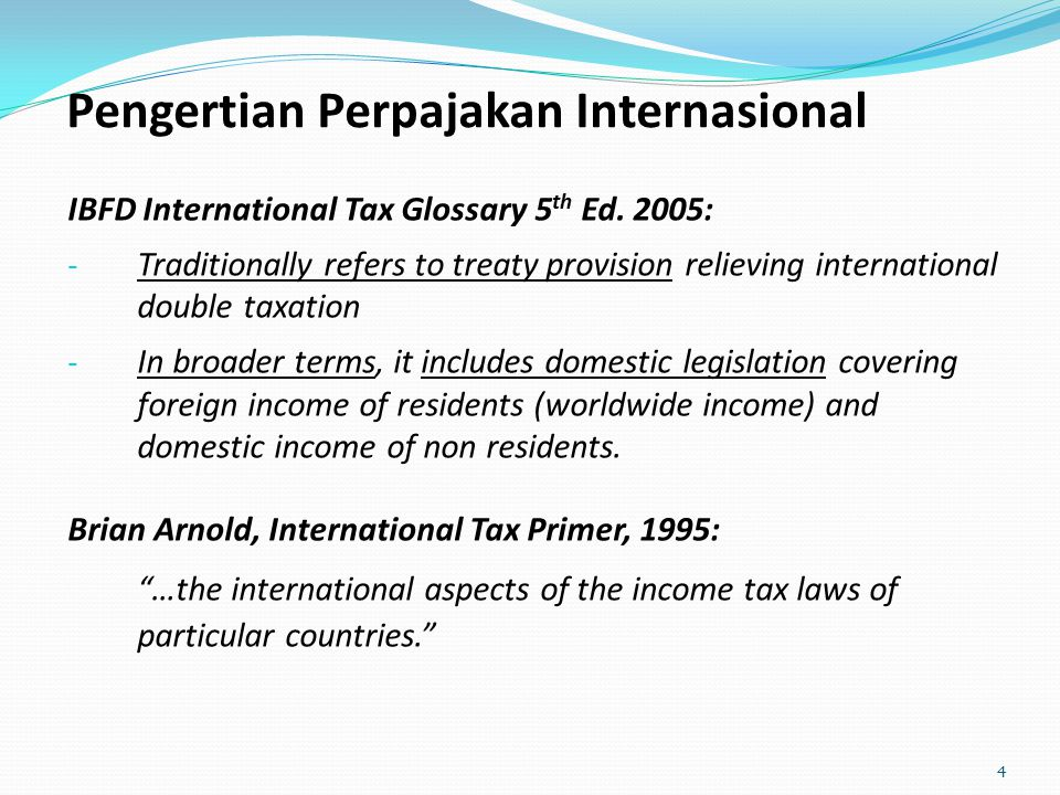 Pengertian Perpajakan Internasional
