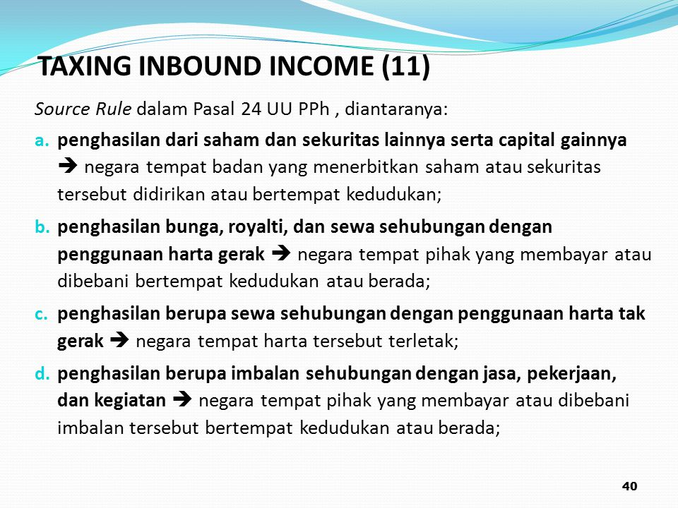 TAXING INBOUND INCOME (11)