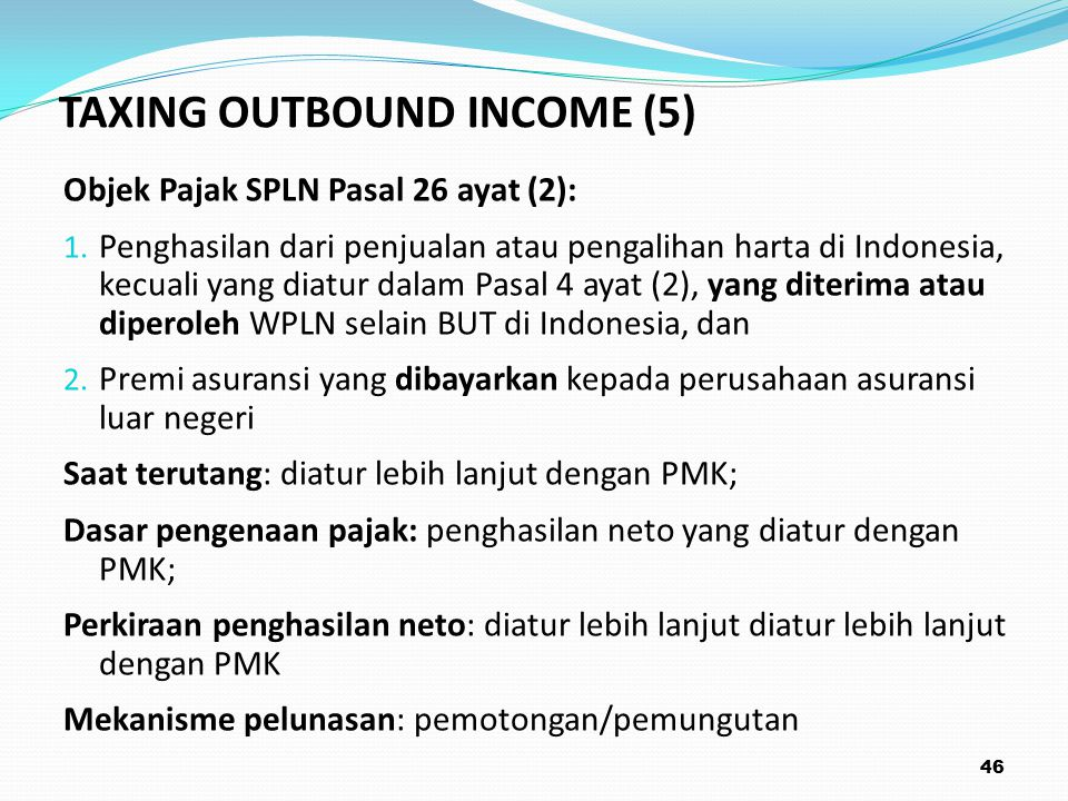 TAXING OUTBOUND INCOME (5)