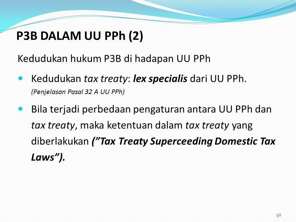 P3B DALAM UU PPh (2) Kedudukan hukum P3B di hadapan UU PPh
