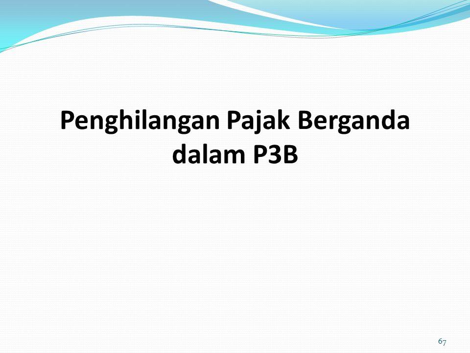 Penghilangan Pajak Berganda dalam P3B