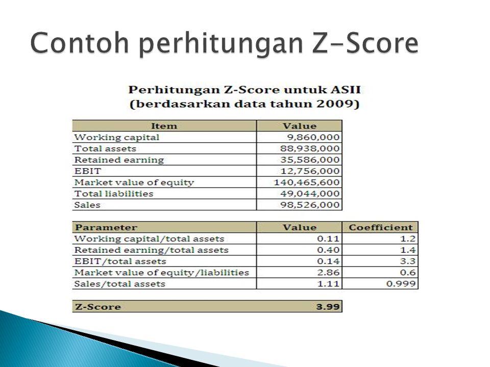 Contoh perhitungan Z-Score