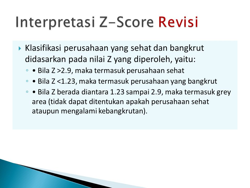 Interpretasi Z-Score Revisi