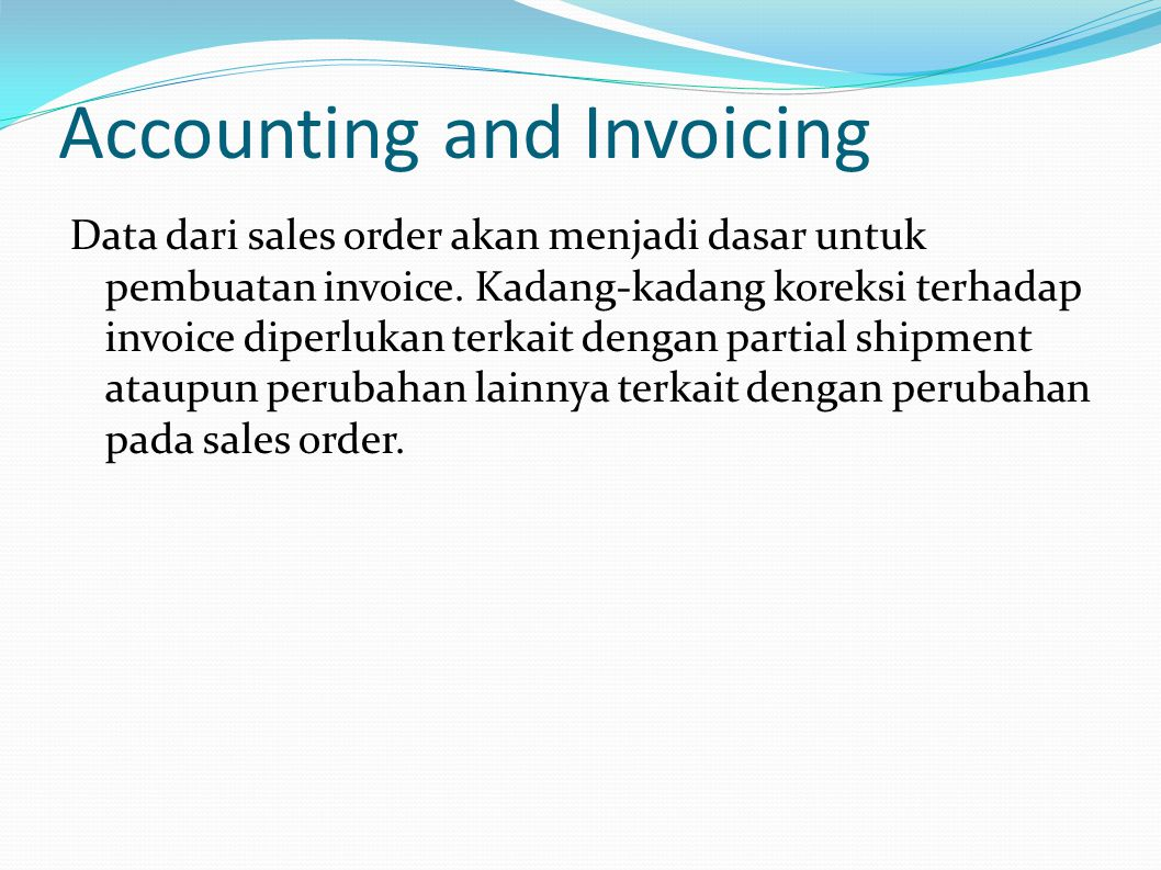 Accounting and Invoicing