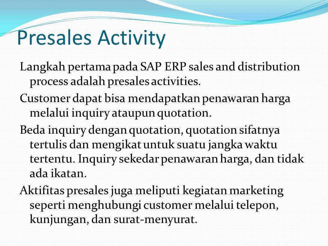 Presales Activity