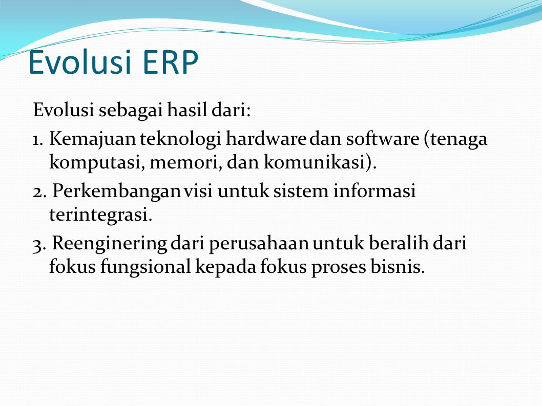 Evolusi ERP