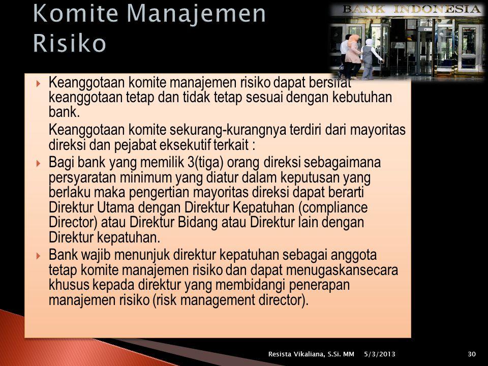 Komite Manajemen Risiko