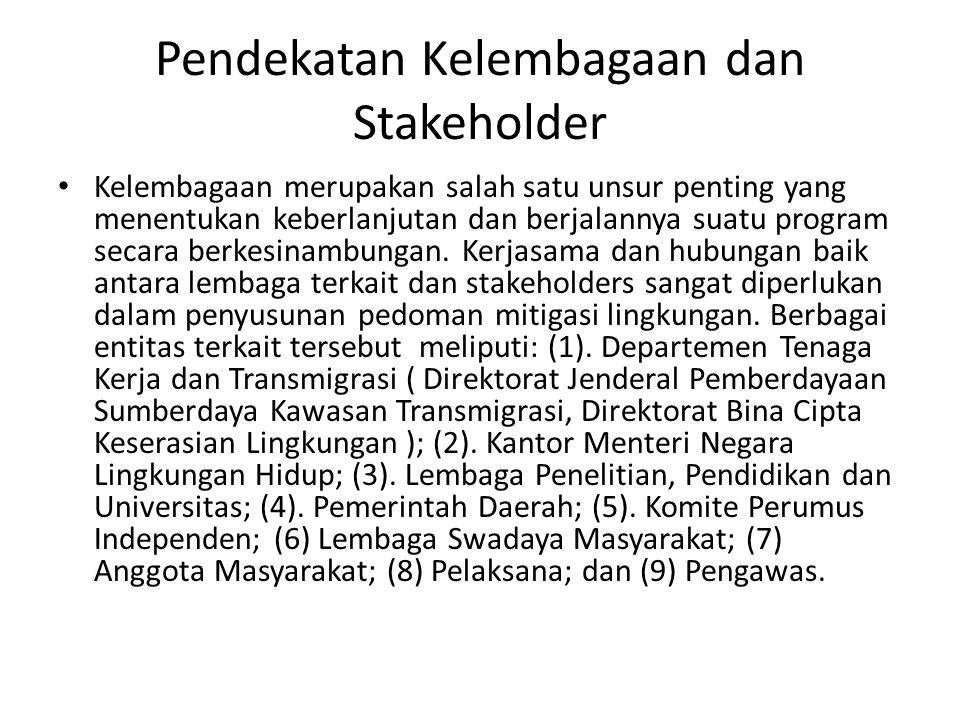 Pendekatan Kelembagaan dan Stakeholder