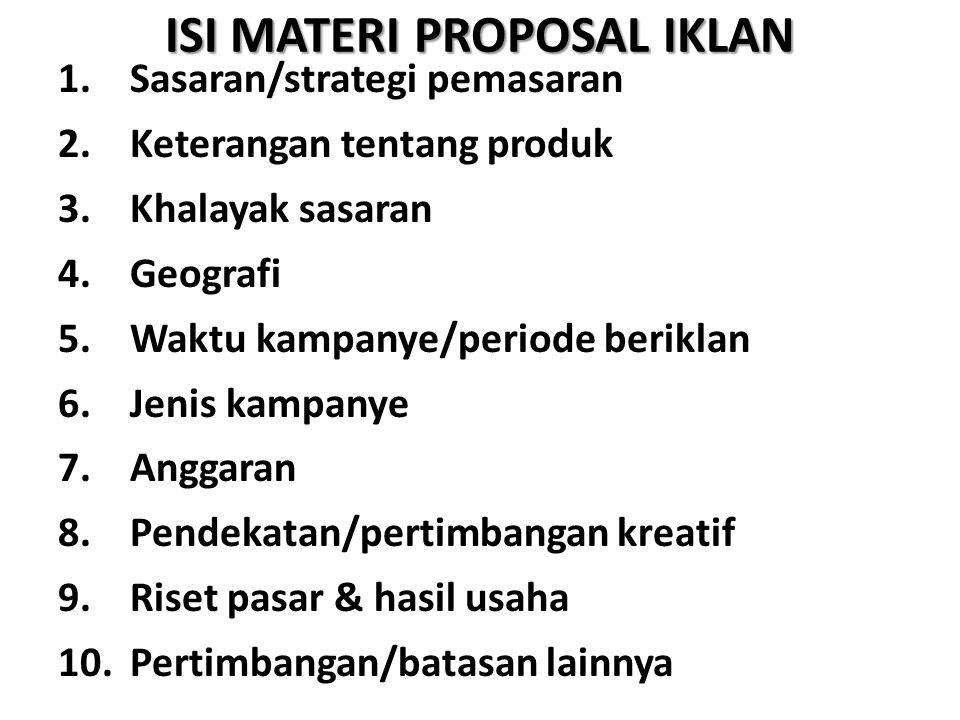 ISI MATERI PROPOSAL IKLAN