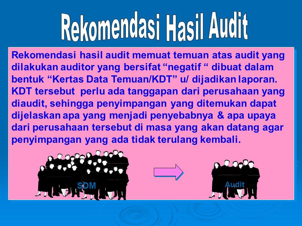 Rekomendasi Hasil Audit
