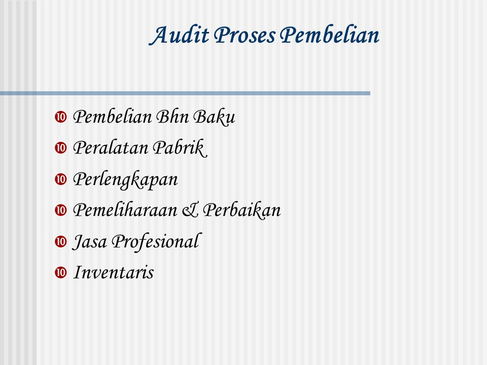 Audit Proses Pembelian