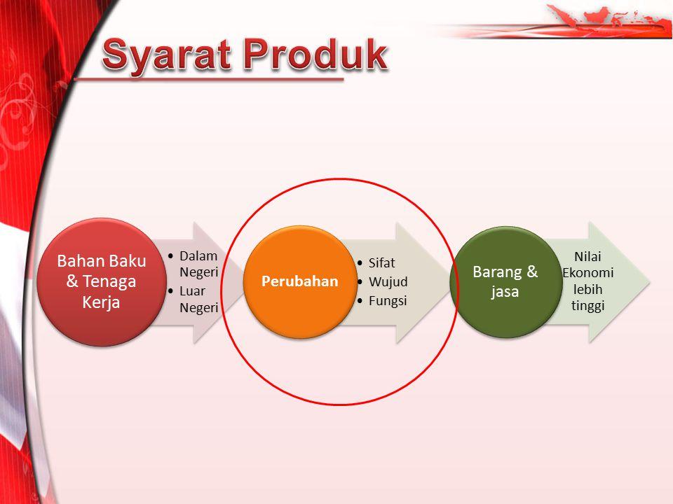 Syarat Produk Perubahan Bahan Baku & Tenaga Kerja Dalam Negeri