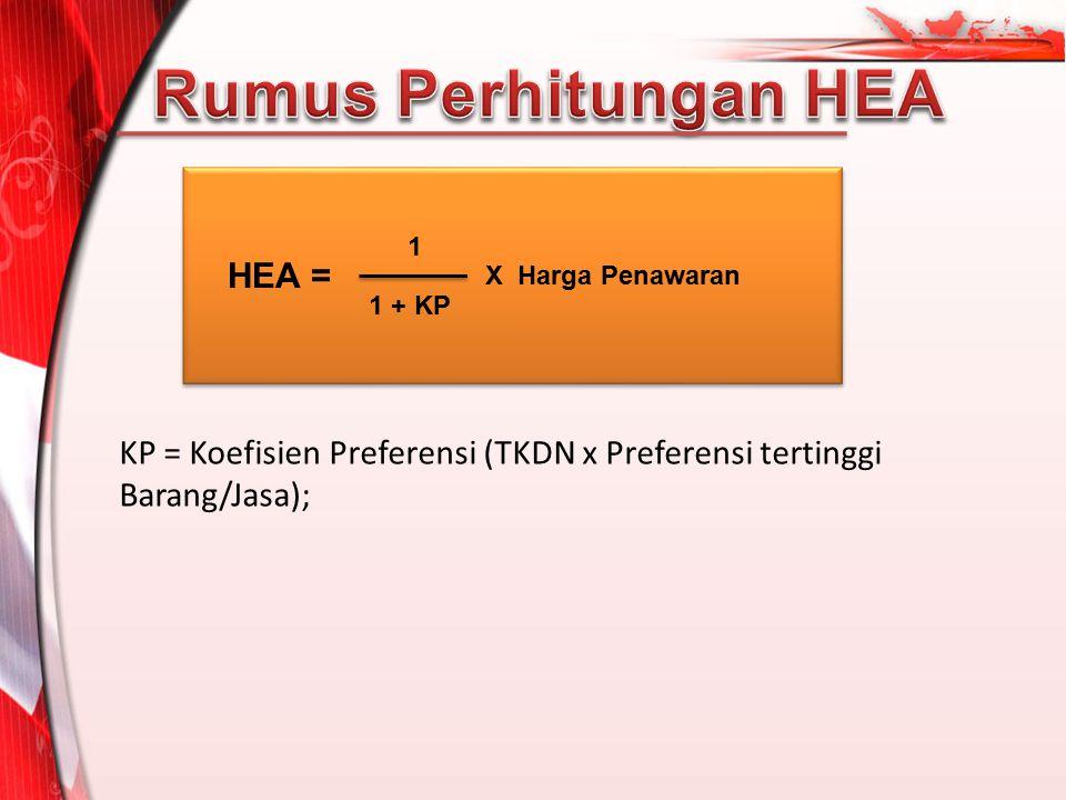 Rumus Perhitungan HEA HEA =