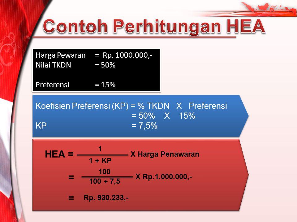 Contoh Perhitungan HEA