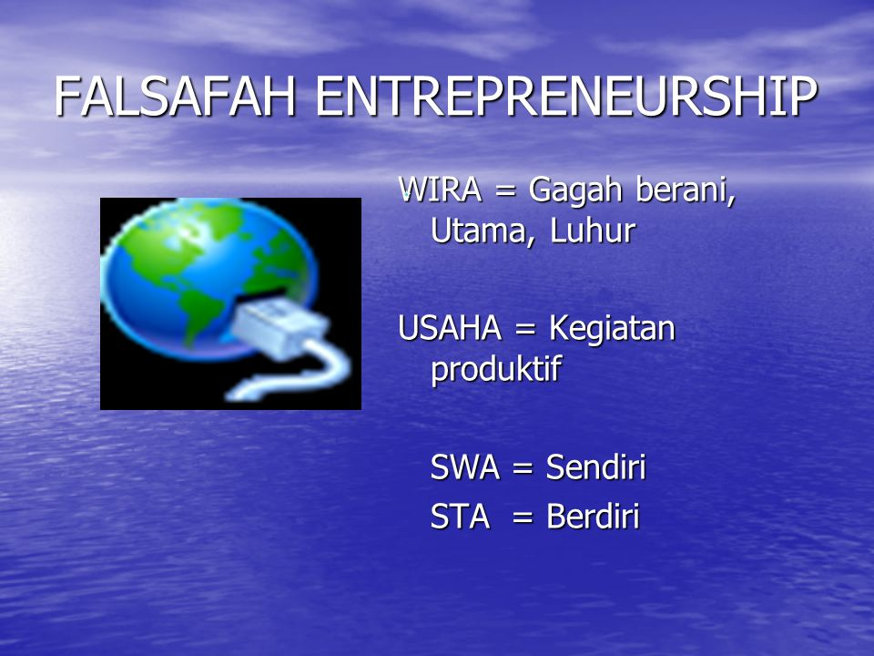 FALSAFAH ENTREPRENEURSHIP