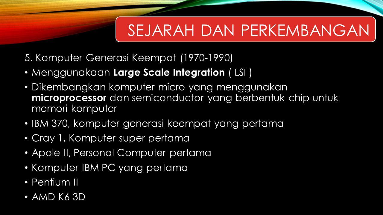 Sejarah dan perkembangan
