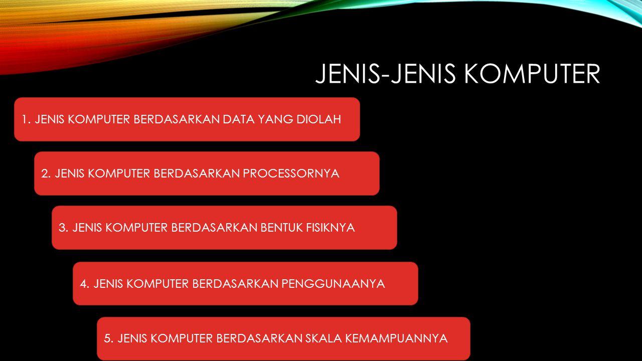 JENIS-JENIS KOMPUTER 1. JENIS KOMPUTER BERDASARKAN DATA YANG DIOLAH