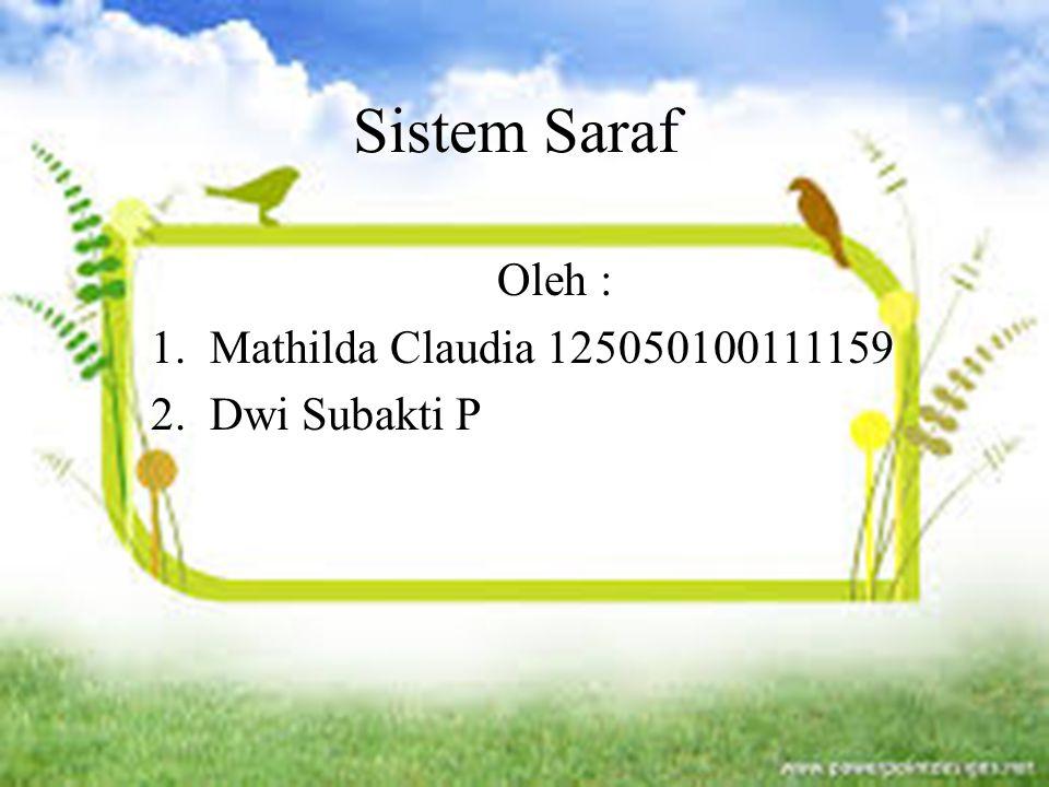 Oleh : Mathilda Claudia 125050100111159 Dwi Subakti P