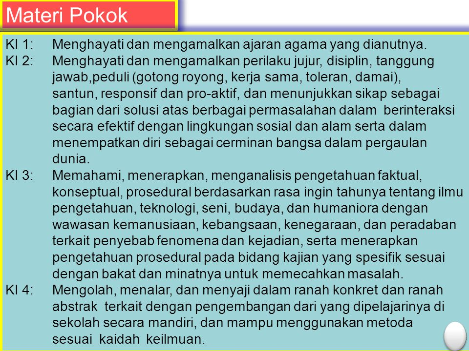 Title Materi Pokok Text