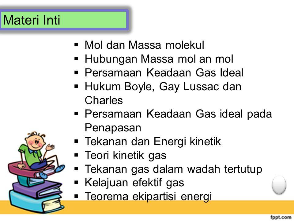 Materi Inti Mol dan Massa molekul Hubungan Massa mol an mol