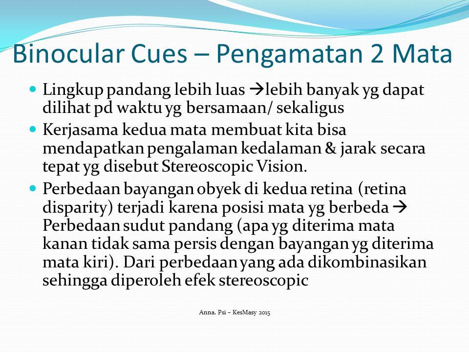 Binocular Cues – Pengamatan 2 Mata