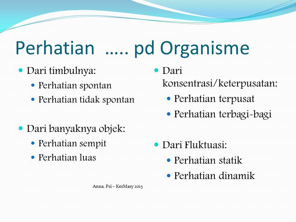 Perhatian ….. pd Organisme