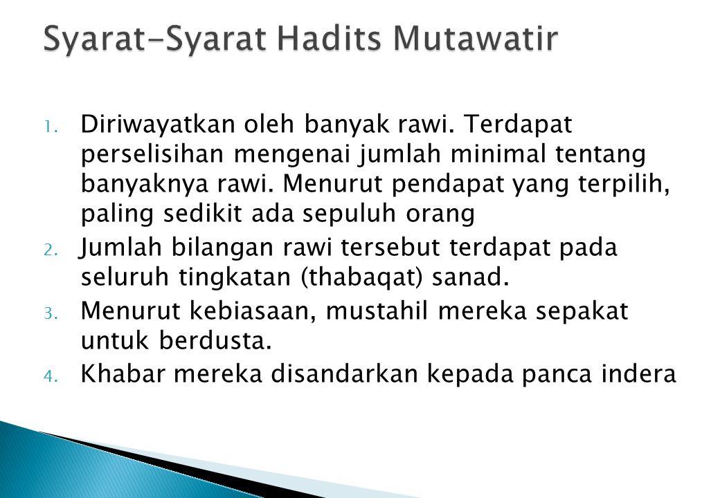 Syarat-Syarat Hadits Mutawatir