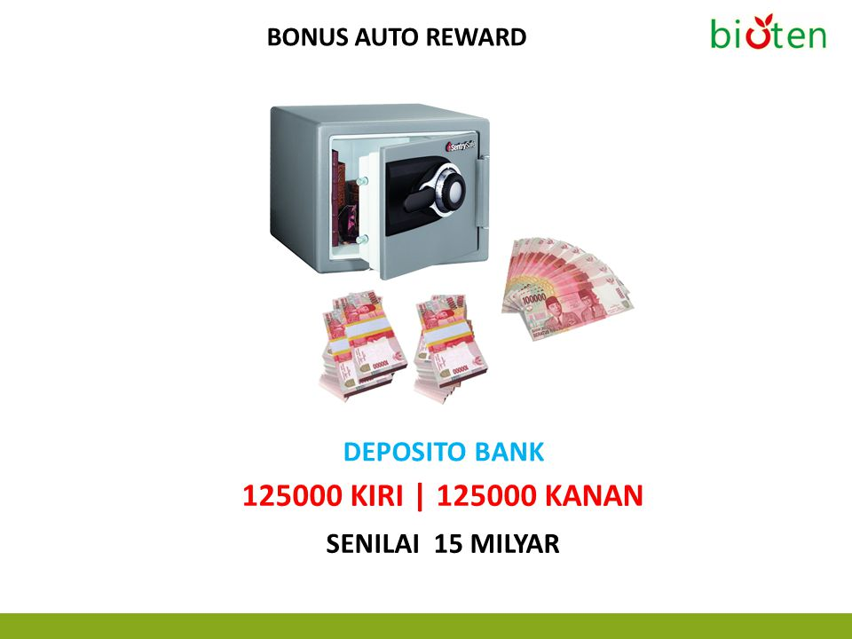 125000 KIRI | 125000 KANAN DEPOSITO BANK Senilai 15 MILYAR
