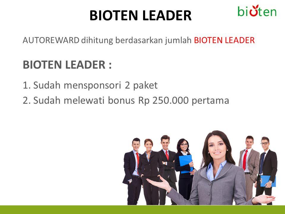 BIOTEN LEADER BIOTEN LEADER : Sudah mensponsori 2 paket
