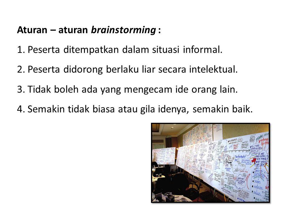 Aturan – aturan brainstorming :