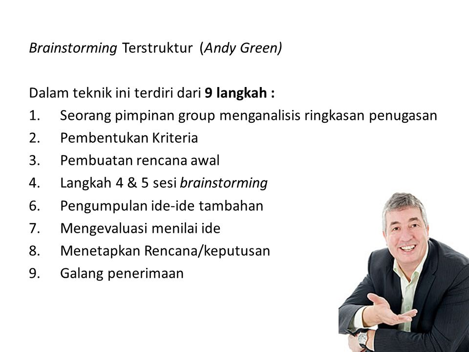 Brainstorming Terstruktur (Andy Green)