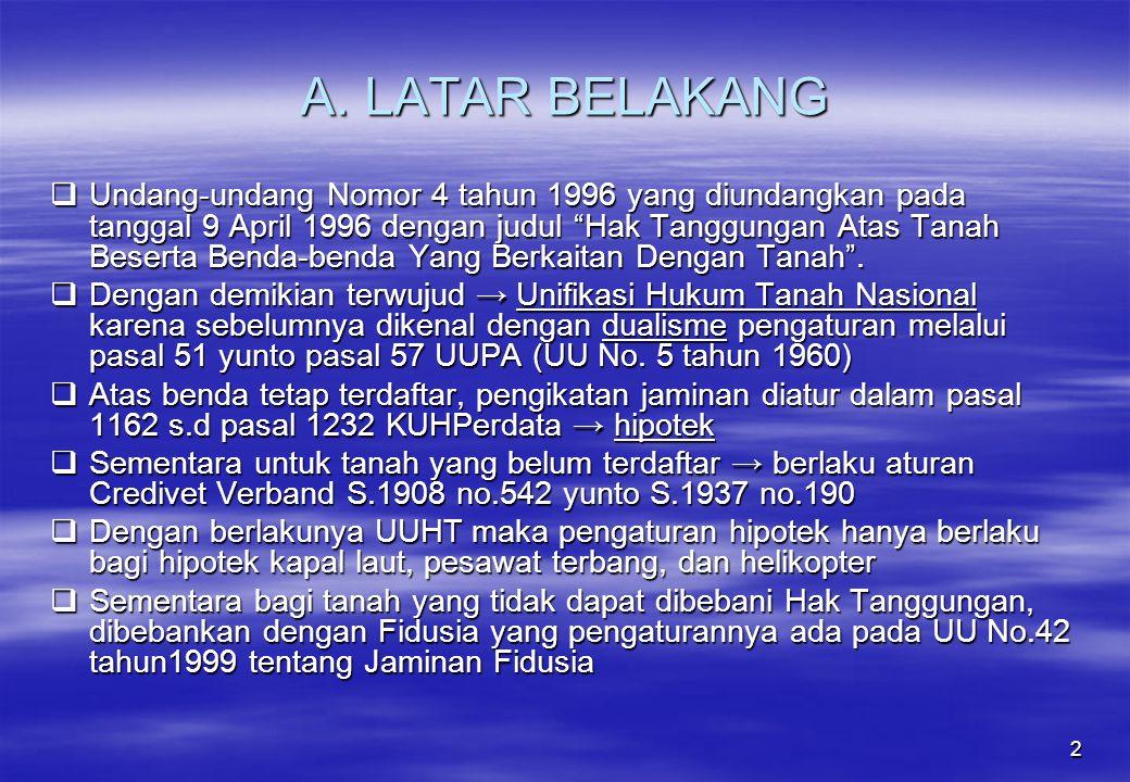 A. LATAR BELAKANG
