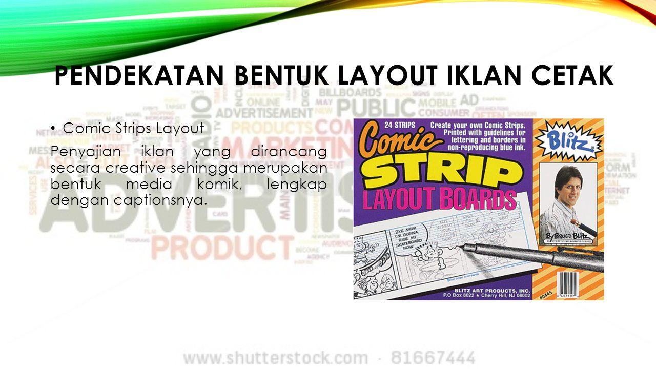 pendekatan bentuk Layout iklan cetak