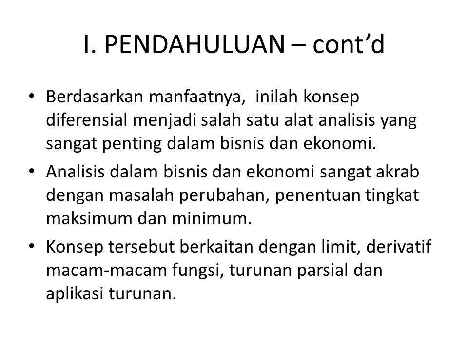 I. PENDAHULUAN – cont'd