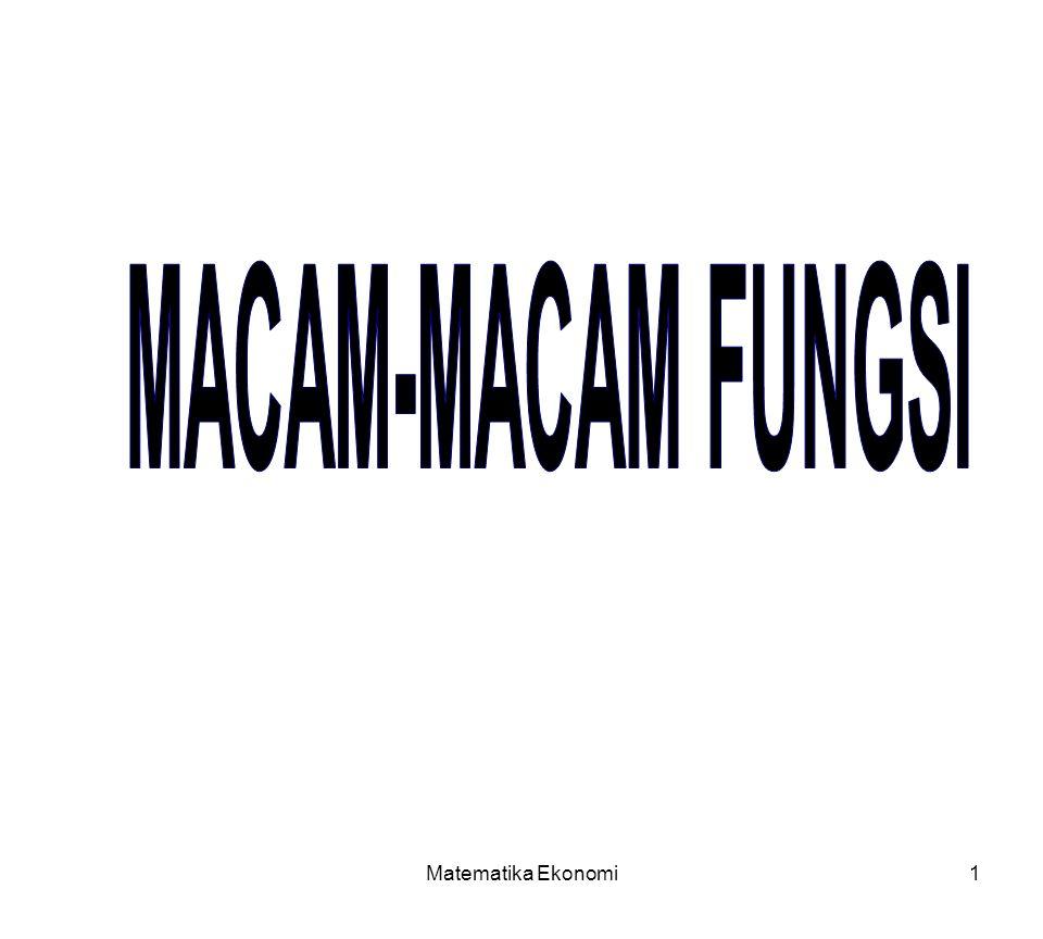 MACAM-MACAM FUNGSI Matematika Ekonomi